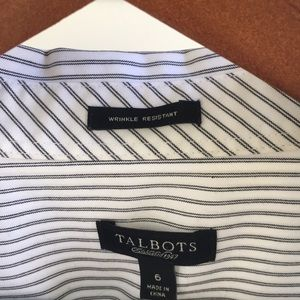 Talbots Tops - Talbots button down 6, wrinkle resistant